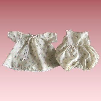 Two Piece Tagged Madame Alexander Baby Outfit 1960s