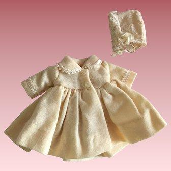 Madame Alexander Little Genius Doll Coat and Bonnet 1958