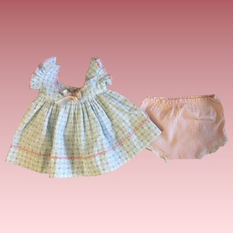 Pink and Blue Dress For Dy-Dee Lou and Friends 1950s