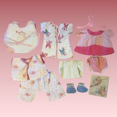 Layette Clothes for American Character Tiny Tears and Friends 1950s