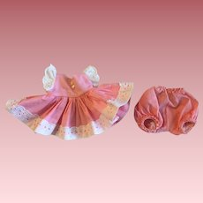 Madame Alexander Little Genius Two Piece Pink Dress and Bloomers