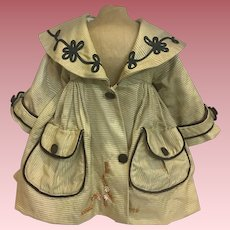Doll Coat for Large Bisque or Composition Dolls