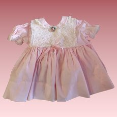 Vintage Pink Toddler Dress For Small Playpals 1960s