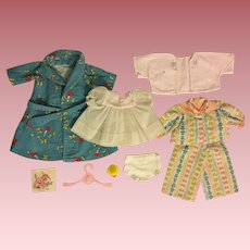 Eight Piece Clothing Layette for American Character Tiny Tears and Friends 1950s