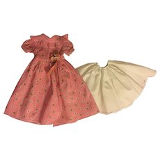 "Pink Dress and Slip for 14"" Composition Dolls 1930s"