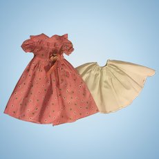 """Pink Dress and Slip for 14"""" Composition Dolls 1930s"""