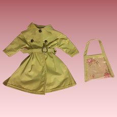 Ideal Shirley Temple Raincoat and Purse 1950s