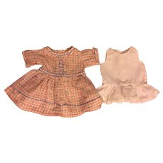 Doll Dress and Slip for Composition Dolls 1930s