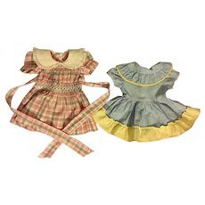 Two Factory Doll Dress for Hard Plastic Dolls