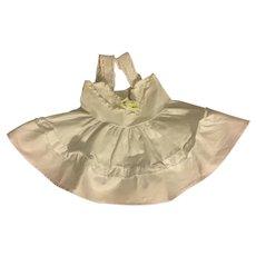 White Polished Cotton Slip for Terri Lee 1950s
