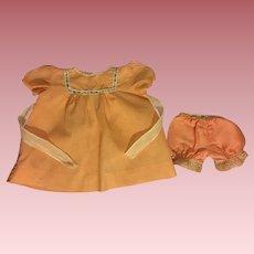 Peach Baby Dress and Underwear 1950s