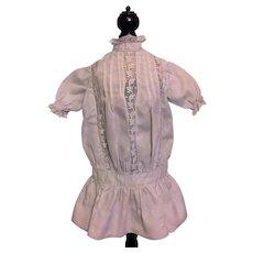 Vintage Dropped Waist Dress for Antique Dolls 1910