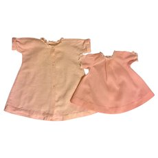 Madame Alexander Pink Gown and Robe for Baby Dolls 1960s