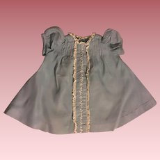 Cornflower Blue Early Dress for Small Mama Dolls 1940
