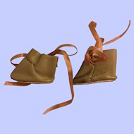 Leather Ankle Boots for Small Bisque Dolls