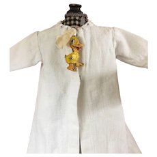 White Baby Doll Robe with Ducky Pin