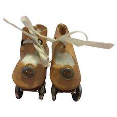 Oilcloth Roller Skates for Composition Dolls 1930s