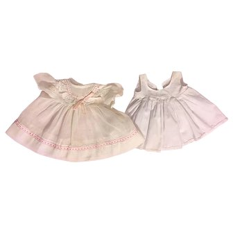 Organdy Baby Doll Dress and Slip 1950