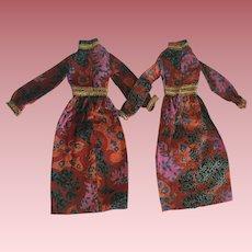Two Hasbro Aimee Dresses 1972