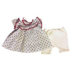 Red, White and Blue Dimity Dress and Unders for Dy-Dee Baby and Friends 1950