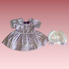 Lavender Heart Dress for Baby Dolls 1950s