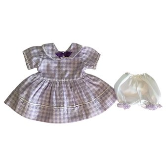 Lavender Heart Dress for Baby Dolls 1950s