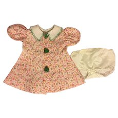 Darling Calico Dress For Composition Dolls 1930