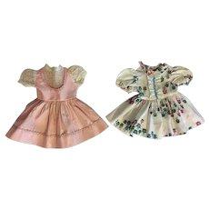 Two Dresses For Hard Plastic Dolls 1950s