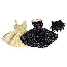 Taffeta Fashion Doll, Slip, and Frilly Girdle 1950s