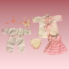 Seven Piece Layette for American Character Tiny Tears and Friends 1950s