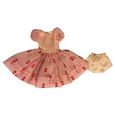 Original Ideal Cherries a la Mode Miss Revlon Dress Unused 1950s