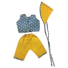 Three Piece American Characters Tiny Tears Outfit 1950s