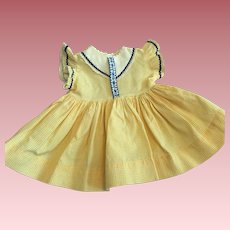 Yellow Gingham Dress for Chubby Toddlers and Baby Dolls