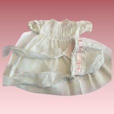 Three Piece Organdy Outfit for Baby Doll 1950s
