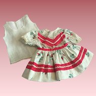 Original Ideal Saucy Walker Doll Dress and Chemise 1952