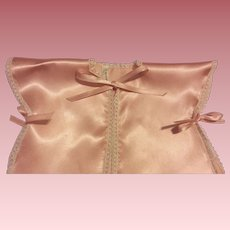 HTF Pink Satin Terri Lee Bed Jacket 1950s