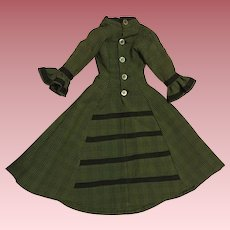 Lovely Green and Black China Doll Dress