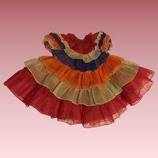 Rare Ideal Deanna Durbin Calypso Organdy Gown 1930s