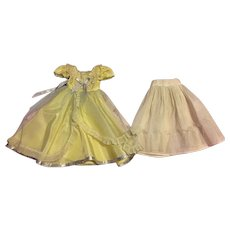 Vintage Tulle and Taffeta Doll Gown and Slip 1950s