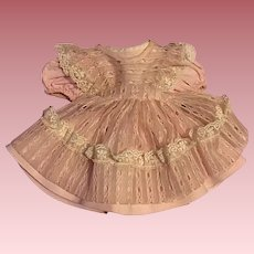 Vintage Pink Doll Dress and Pinafore 1950s