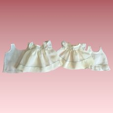 Two Twin Organza Baby Doll Dresses And Slips 1920s