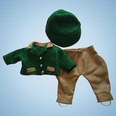 Three Piece Outfit for Boy Dolls such as Kewpie and Skippy