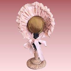 Lovely Bonnet Doll Hat For French or German Dolls
