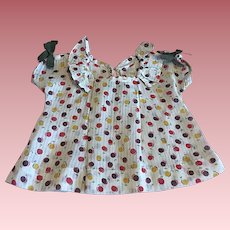 Lavender Dimity Print Dress for Composition Dolls such as Shirley Temple 1930s