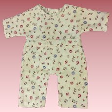 Effanbee Dy-Dee Baby Floral Drop Seat Pajamas 1950s