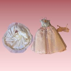 Pink and Silver-tone Tulle and Lame Ballgown Fashion Dolls1950s