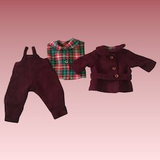 Three Piece Outfit for Effanbee Skippy and Friends 1930s.