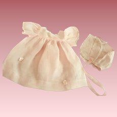 Three Piece Organdy Outfit for Tiny Tears and Friends 1950s