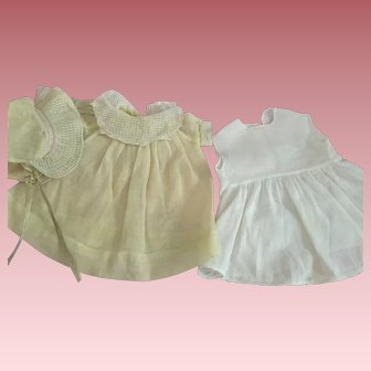 Three Piece Organdy Dress Outfit For Composition Dolls 1920s