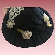 Lovely Picture Hat For Bisque Dolls